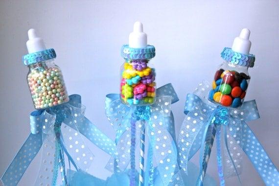 Baby bottle favors picks or sticks baby by favorsboutique for Baby bottle decoration