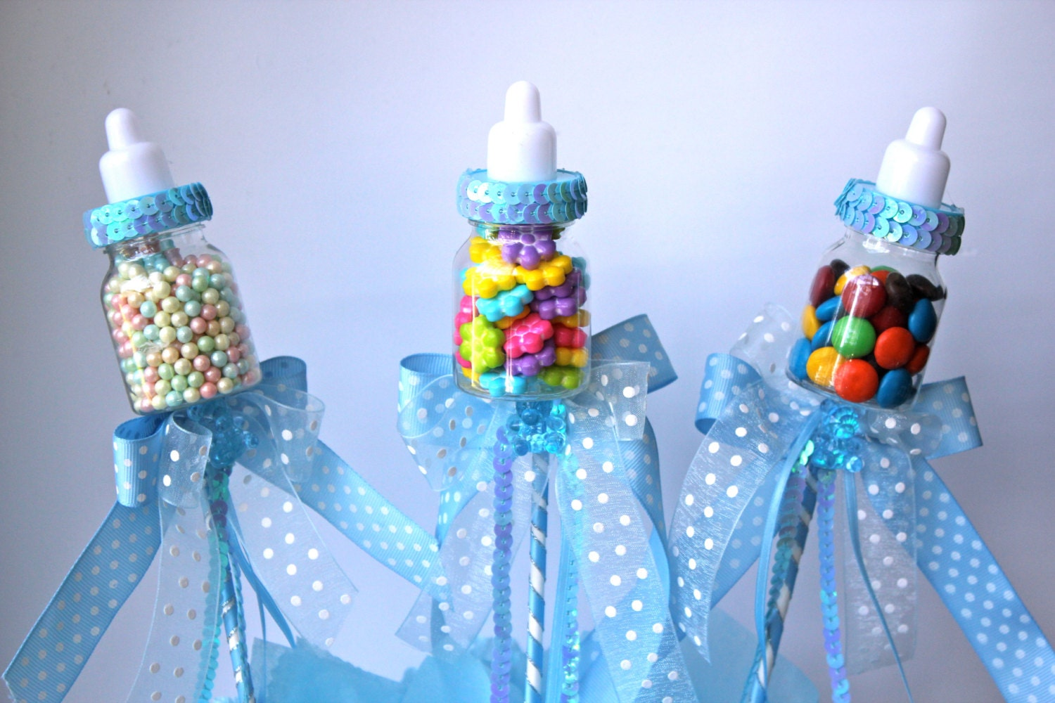 Baby bottle favors picks or sticks baby by favorsboutique for Baby bottle decoration ideas