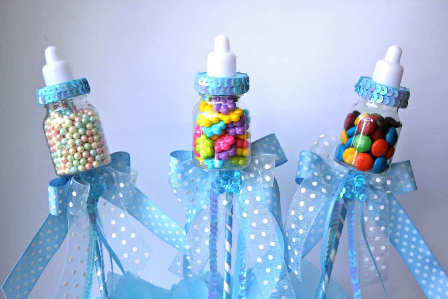 baby bottle favors picks or sticks baby by favorsboutique