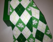 Irish Argyle Clover, Shamrock Green Leg Warmers Packaged like a Cupcake