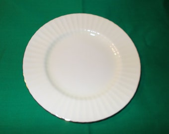 "One (1). Bone China, 8"" Luncheon Plate, From Royal Standard, in the R 185 Pattern."