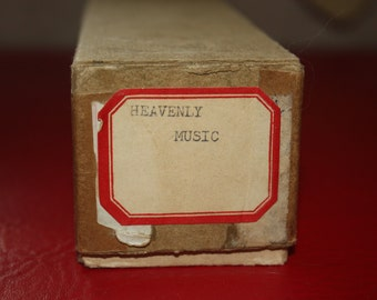 Vintage 1943 Roll Music, Word Roll For Player Piano, In Original Box-Titled Heavenly Music- Great Vintage Home Decor, Paper Ephemera