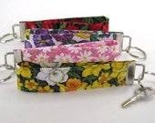 Key Chain Wristlet, Tulip, Pansies, Daisies or Daffodil