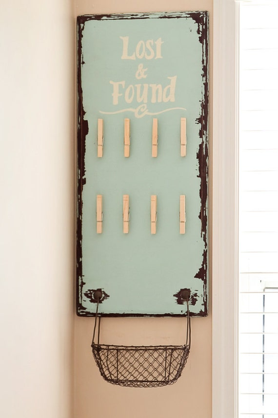 Lost Found Board Sign Laundry Decor Organization For Lost