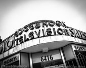 Edgebrook Television - Chicago photography art print  - neighborhood sign