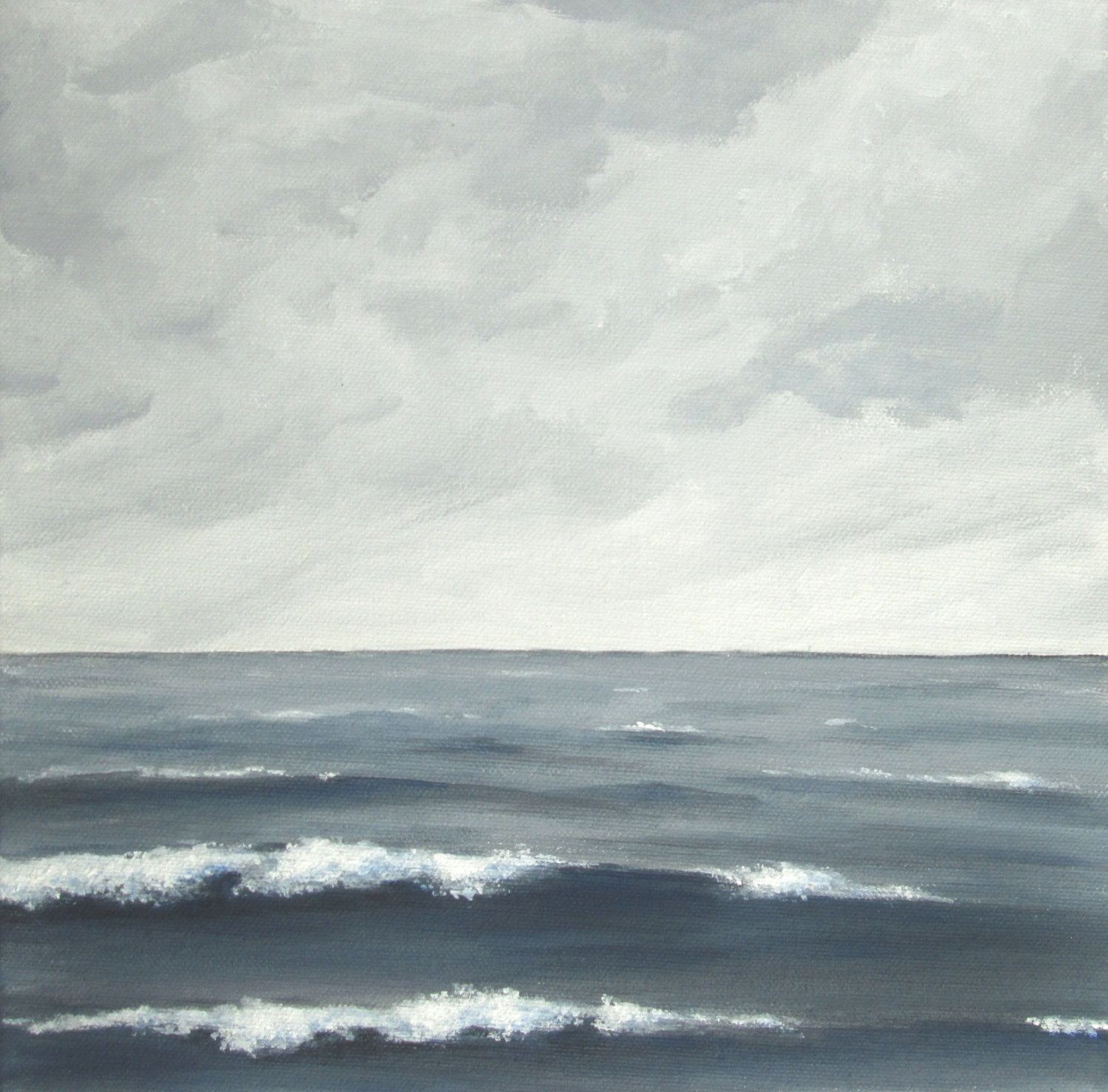 stormy sea painting, grey sea fine art, gray seascape, cloudy seascape, choppy sea painting, sea, clouds, ocean
