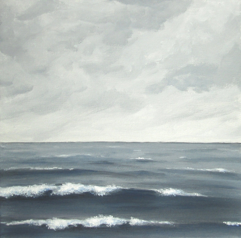 stormy sea painting, grey sea fine art, gray seascape, cloudy seascape, choppy sea painting, sea, clouds, ocean