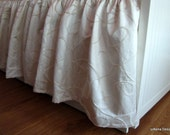 """Gathered Crib Skirt: neutral baby bedding, """"Oatmeal & Cream"""" cotton luxe collection, Custom Made to Order"""