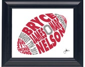 Football - Custom Personalized Newborn Print UNFRAMED