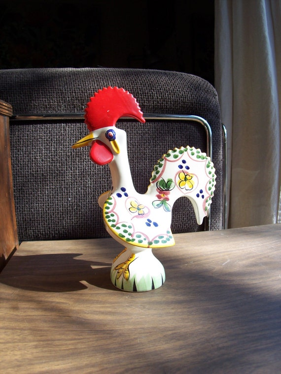 Http Etsy Com Uk Listing 130668533 Good Luck Rooster Portuguese Ceramic