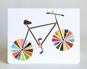 Bicycle Greeting Cards-- Recycled Bicycle