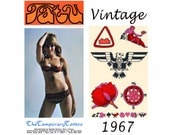 Temporary Tattoos - Military Eagle Tattoo - Tattoo Flash (new old stock) -  Vintage Ephemera - Adult Party Favors