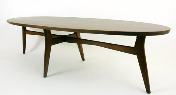 ON SALE Surfboard Coffee Table Mid Century Modern Furniture