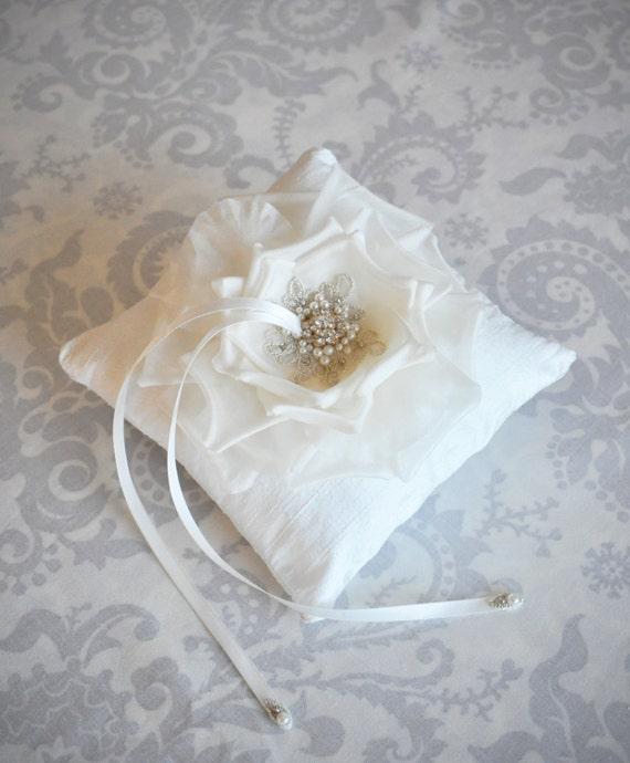 Ring Bearer Pillow Wedding Ring Pillow With Handmade Silk