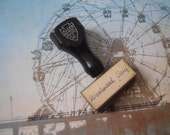 CLEARANCE Antique Westwood, California Wooden Handled Allen Rubber Stamp