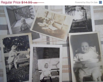 1920s-40s Single Babies Antique Photograph Lot No.2