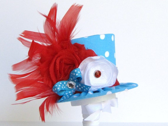 Mini Top Hat Headband, Alice in Wonderland themed Tea Party, Birthday, Costume, Photo Prop, Gift from Truly Sweet Circus