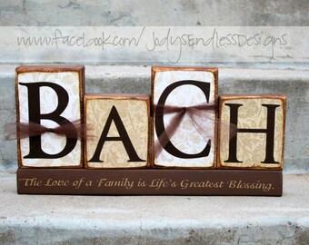 Family Name Blocks - Unique wedding Gift - Home Decoration - Bridal Shower - Family Name