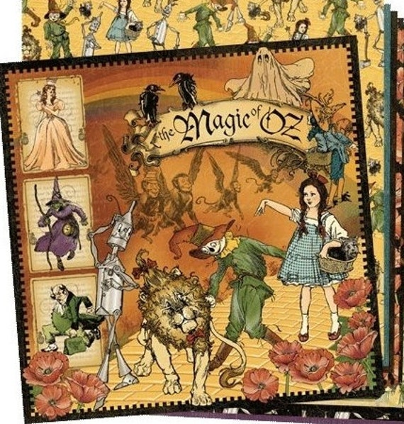 """Graphic 45 """"Magic of Oz"""" 12x12 Paper Set - 1 of each 11 design papers"""