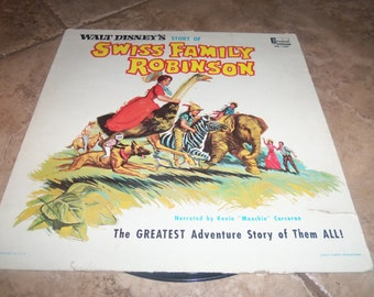 Vintage Record Lp Swiss family Robinson Walt Disney Kevin Corcoran