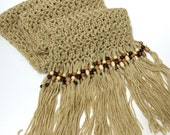 Crochet Scarf Beaded Fringe