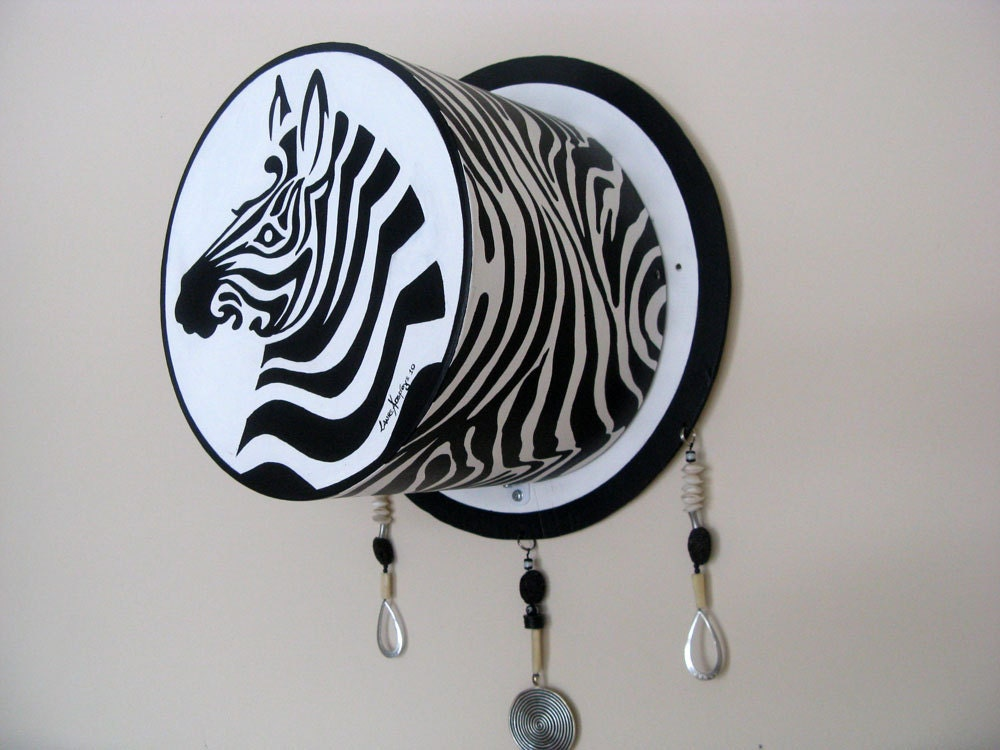 3D Wall Painting zebra art painting wall sculpture, black and white wall art