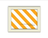 Audrey Hepburn Quote- Orange Stripe Hippest Cat Art Printable, Home Decor