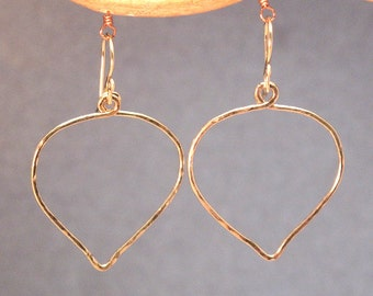 Hammered Leaf Earrings Nouveau 87