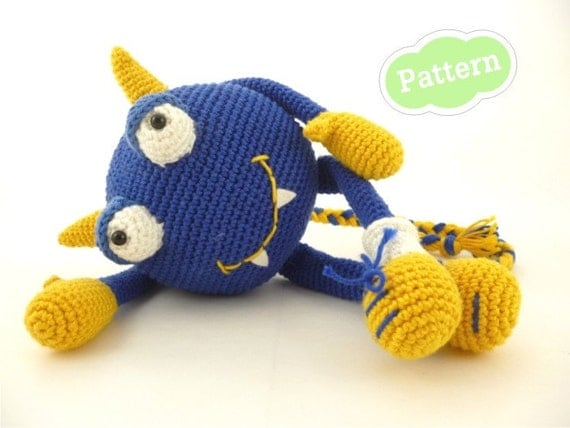 Mr. Blue Berry - Monster Amigurumi Crochet Pattern