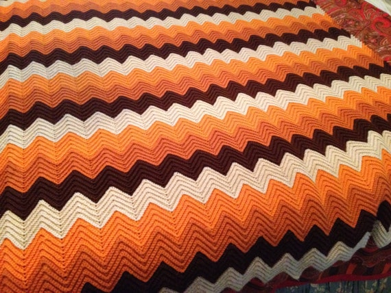 Items Similar To Charlie Brown Zig Zag Pattern Crochet