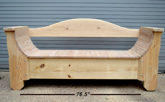 Handmade Wood Bench With Storage In Raw Wood By Hudsonststudio