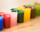 Unscented votives - white and purple