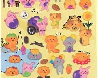 Korean Scrapbook Die-cut Puffy Stickers, ChiChi (STPU03030)