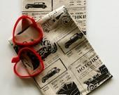Linen Cotton Tea Towel, Toile De Hotchkiss print, charcoal