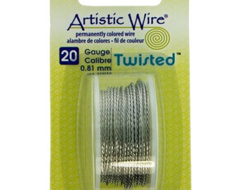 20ga Artistic Wire Twisted Stainless Steel Color NonTarnish Wire 9 Foot SALE