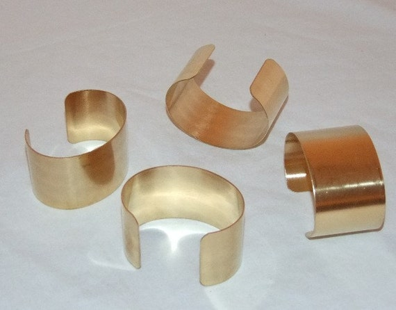 brass bracelet cuff blanks for jewelry making 1 5 inch pkg of