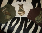 Made-to-Order - Infant Camo Max 4 HD Real Tree AP Mossy Oak Break Up Baby Necktie Onesie Brown Tan Green