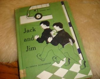 1961 Copy Jack and Jim Book Slobodkina Adventures of the 2 Boys Childs Lit Childrens Vintage Book