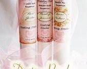 VARIETY Gift Set Dusting Powder Sampler - choose Three (3.6 oz. total)  Vintage Style Labels in Pink
