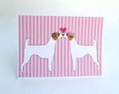 Jack Russell Terrier Love Greeting Card