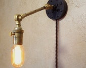 Industrial Articulating Wall Sconce Lamp.