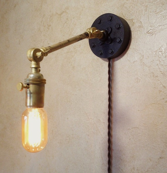 Wall Lamps Etsy : Items similar to Industrial Articulating Wall Sconce Lamp. on Etsy