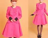 wool jacket dress----lolita jacket spring wind jacket wool dress