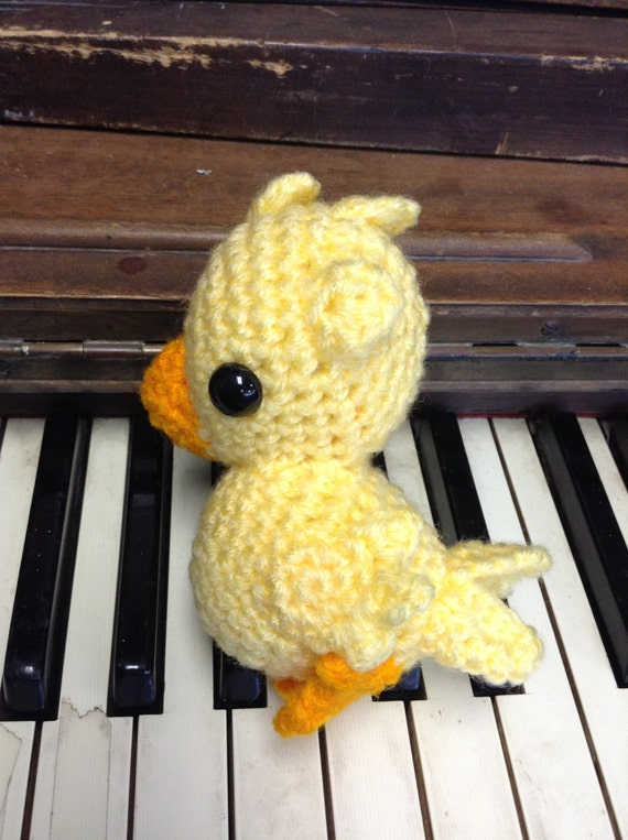 Crochet Fantasy : Chocobo Final Fantasy crochet amigurumi plush by CraftedCuteness