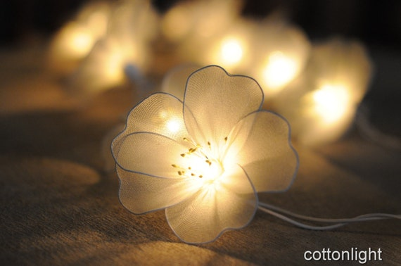 SALE 20 percent off 20 White floral flower by cottonlight