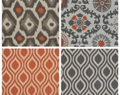 """Pillow cover 16"""" x 16"""" choose your print ONE orange gray oatmeal cushion cover pillow sham"""