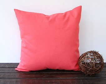Coral throw pillow cover cushion cover pillow sham modern minimalist decor