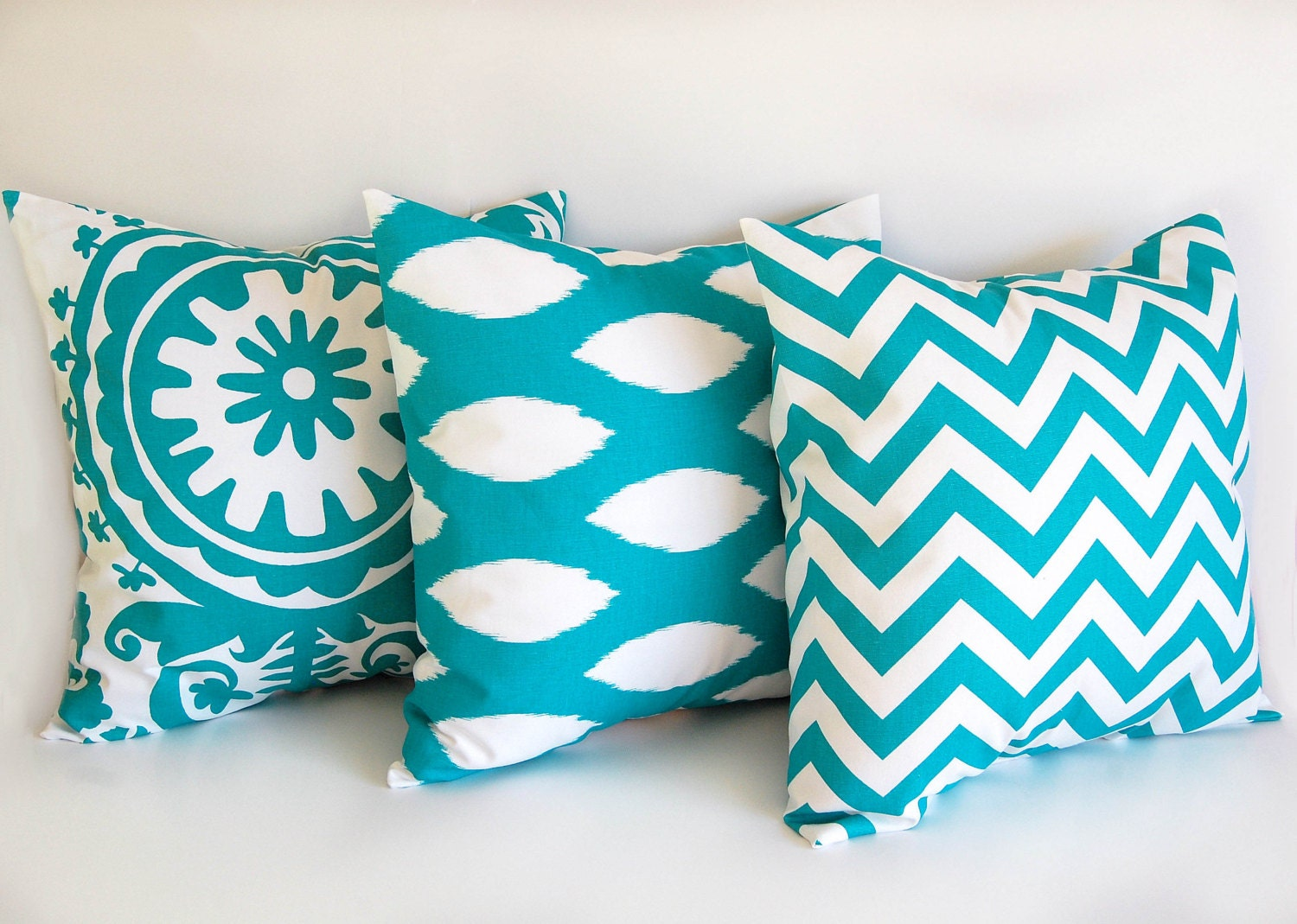 Turquoise Throw Pillows Covers : Turquoise throw pillow covers 20 x 20 cushion by ThePillowPeople