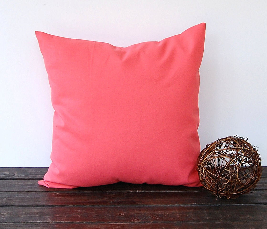 Coral throw pillow cover cushion cover pillow sham modern