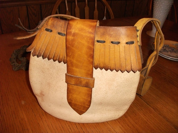 Vintage Muzzleloader S Possibles Bag Made Of Two Types Of